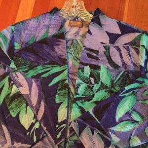 Chico's tropical jacket. Size 2